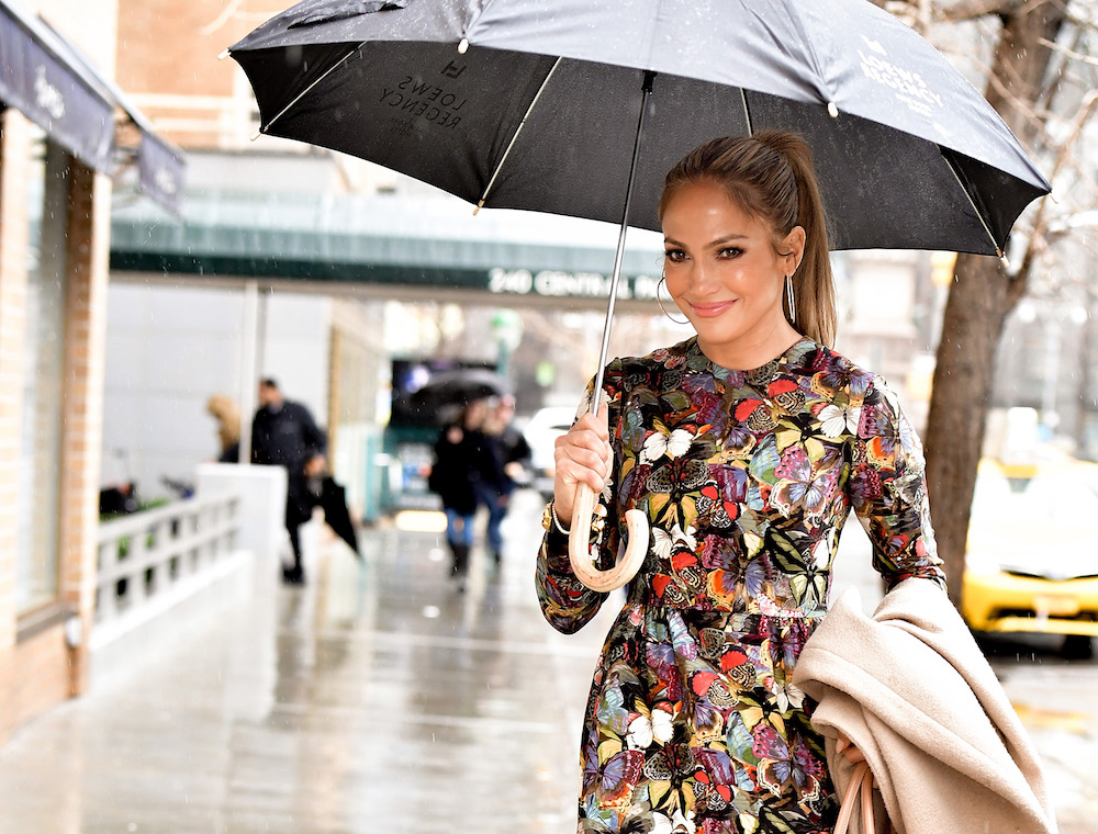 Jennifer Lopez arrives at Marea restaurant in New York City