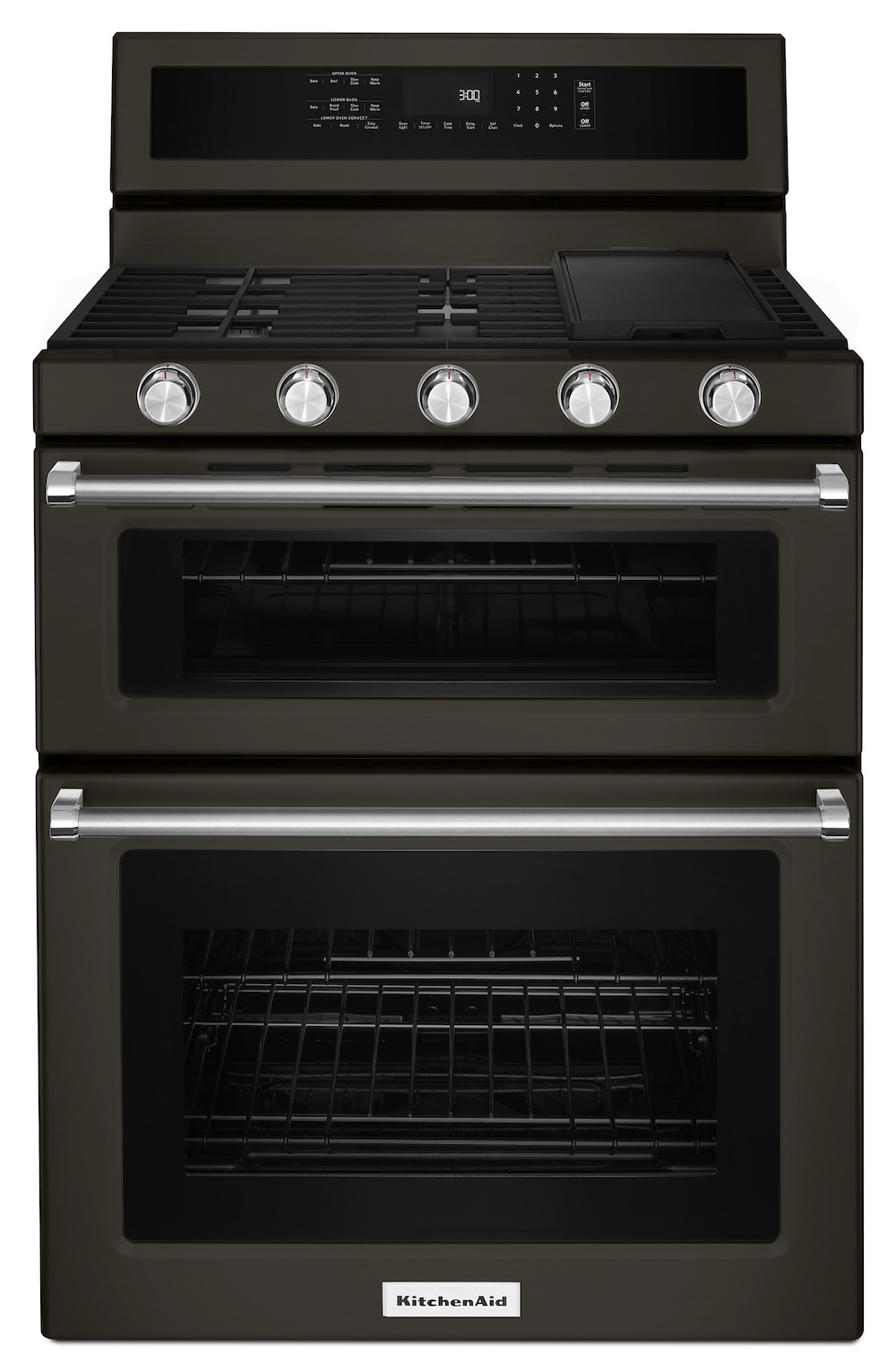 Kitchenaid's matte black freestanding range stove
