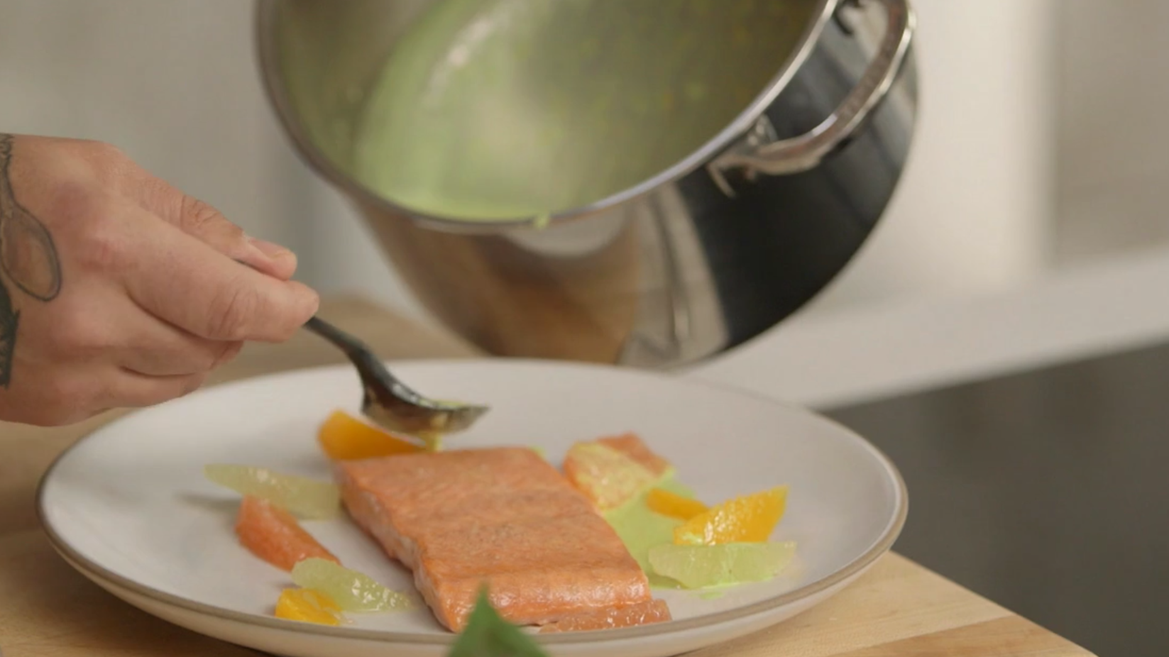 Salmon with Citrus Sauce, and a Ludo Lefebvre Twist