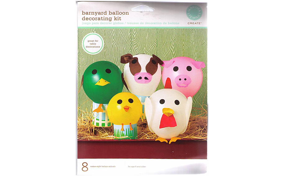 farm animal balloon craft set