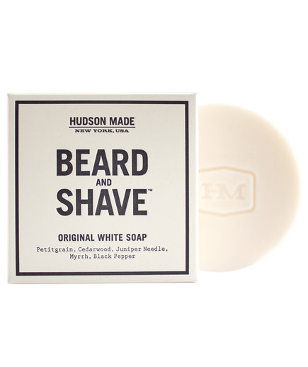 <p>Hudson Made Beard and Shave Soap in Original White</p>