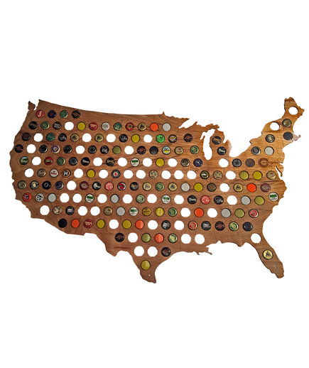 <p>Bottle Cap Map</p>