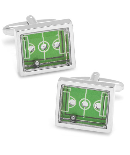 <p>Functional Soccer Field Cufflinks</p>