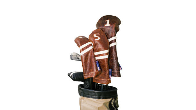 <p>Stitch Golf Leather Head Covers</p>