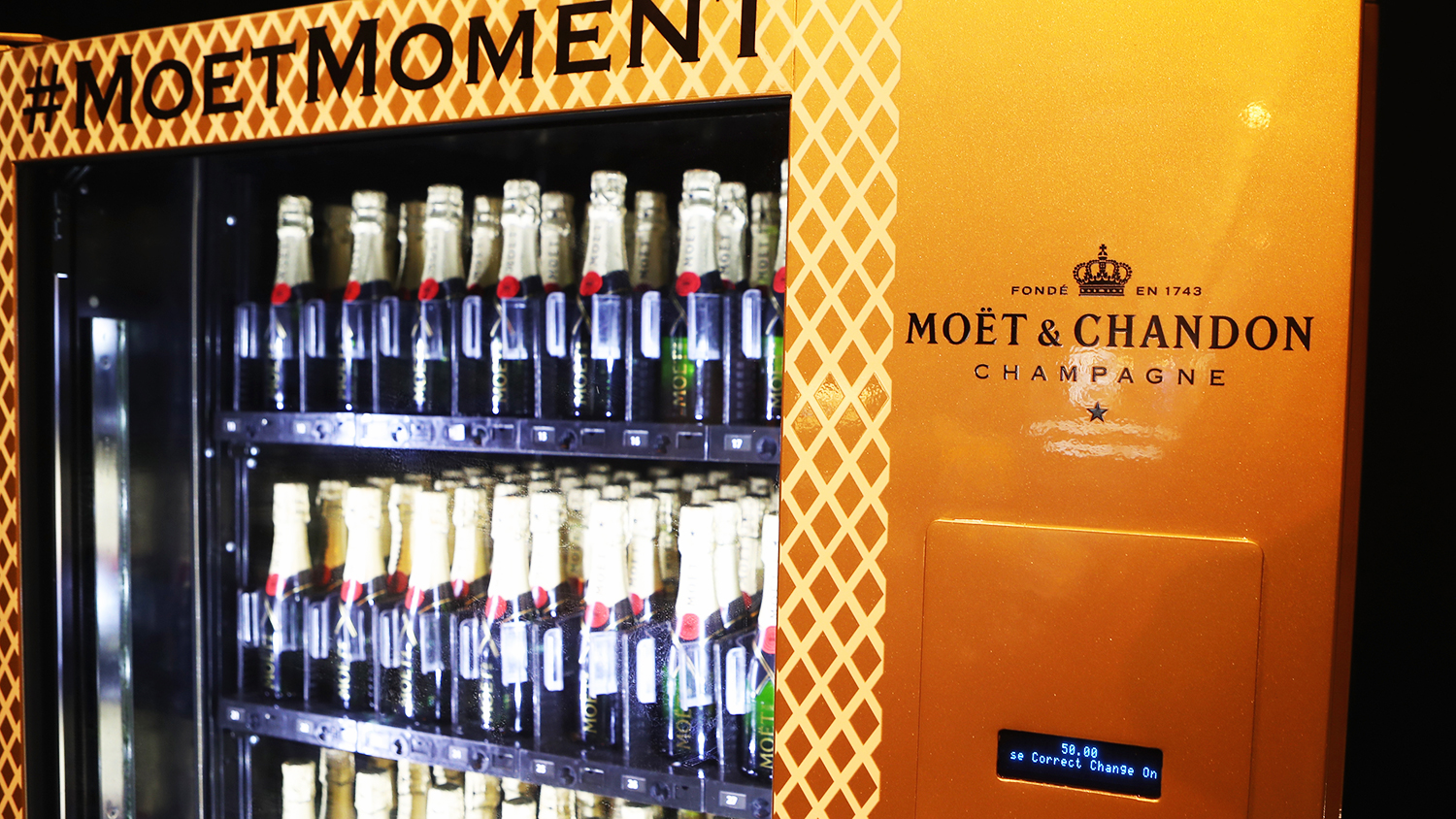 moet vending machine champagne