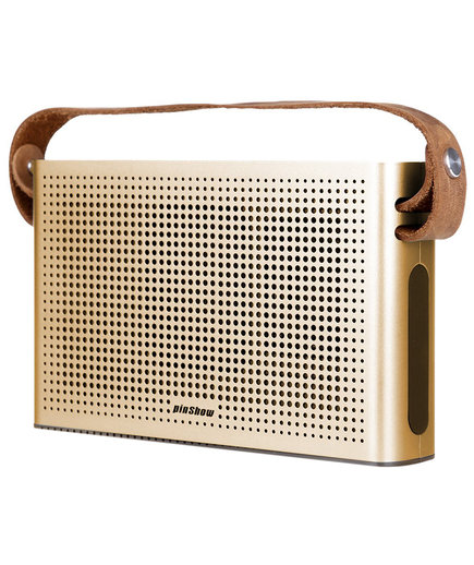 Portable Wireless Speaker With Leather Strap