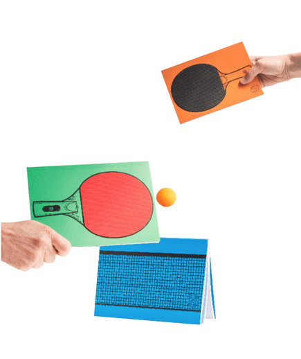 <p>ThinkGeek Table Tennis Notebooks</p>
