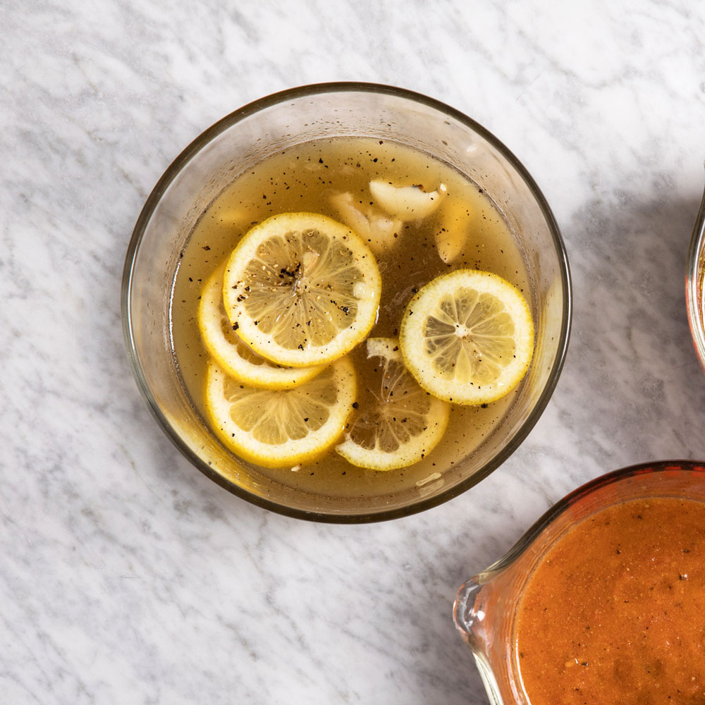 Gin and Lemon Marinade
