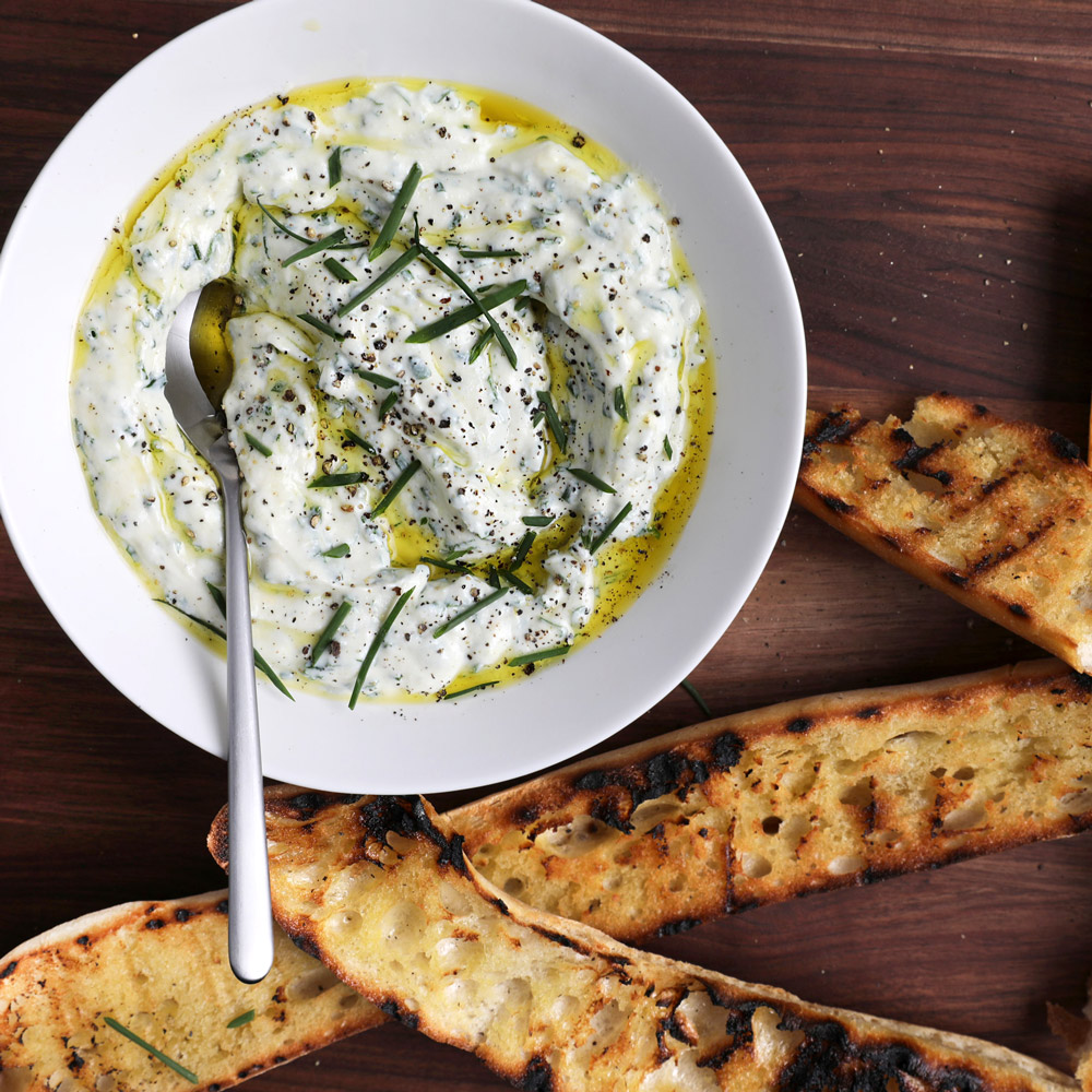Herbed Ricotta with Grilled Bread