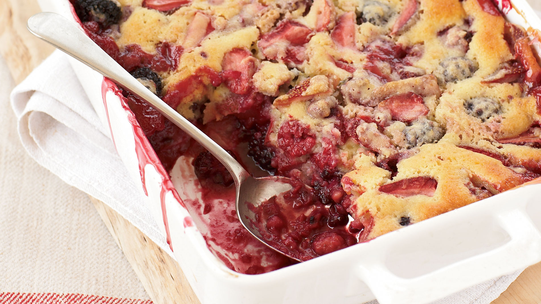 Berry Spoon Cake