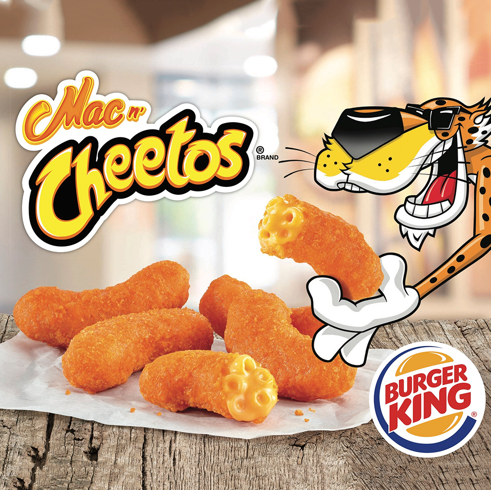 mac n cheetos burger king press release