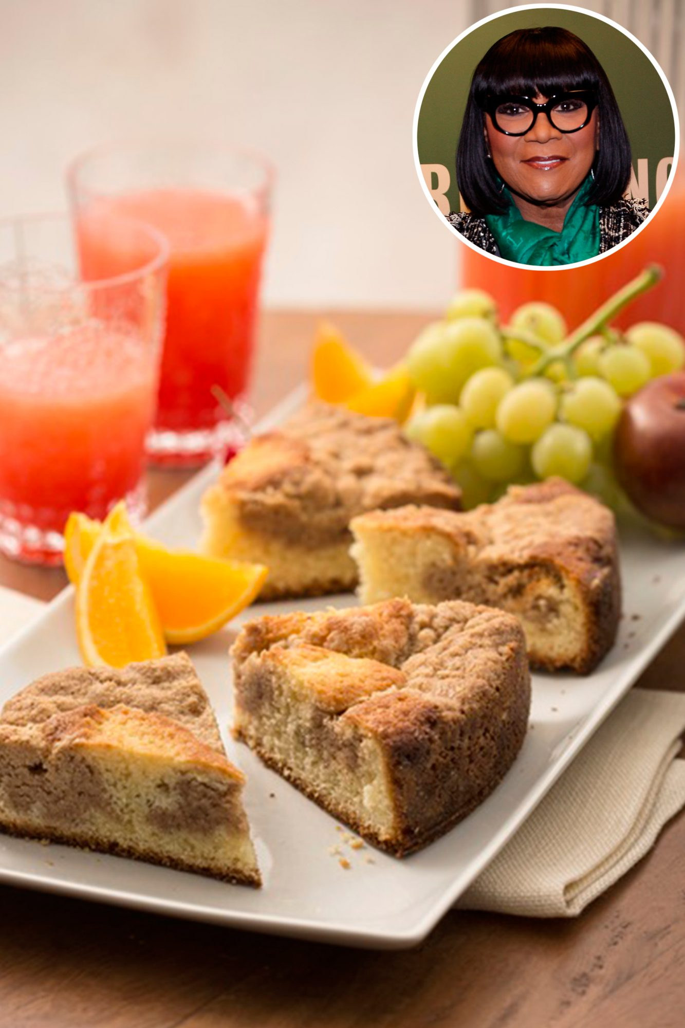 Celebrate Mother's Day with Patti LaBelle's cinnamon crumb cake