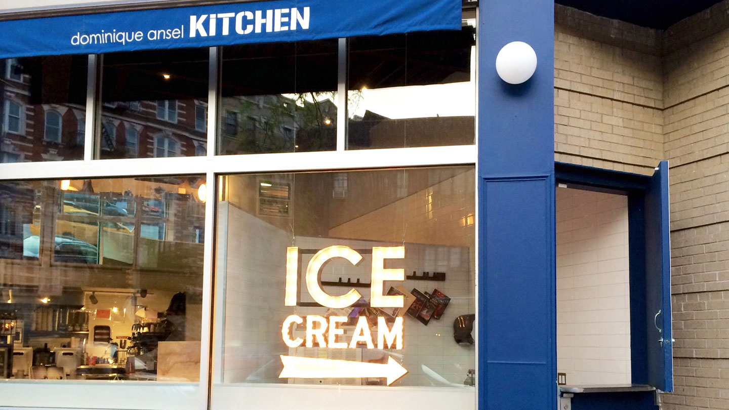 Dominique Ansel Kitchen Ice Cream Window