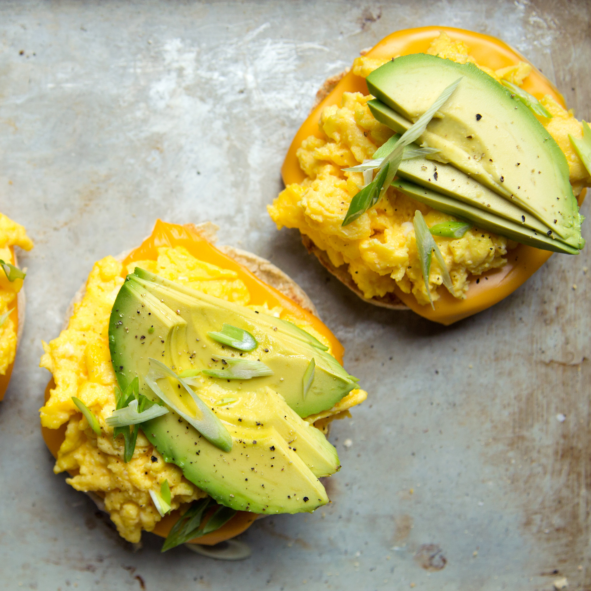 Scrambled Egg and Avocado Breakfast Sandwiches Recipe ...