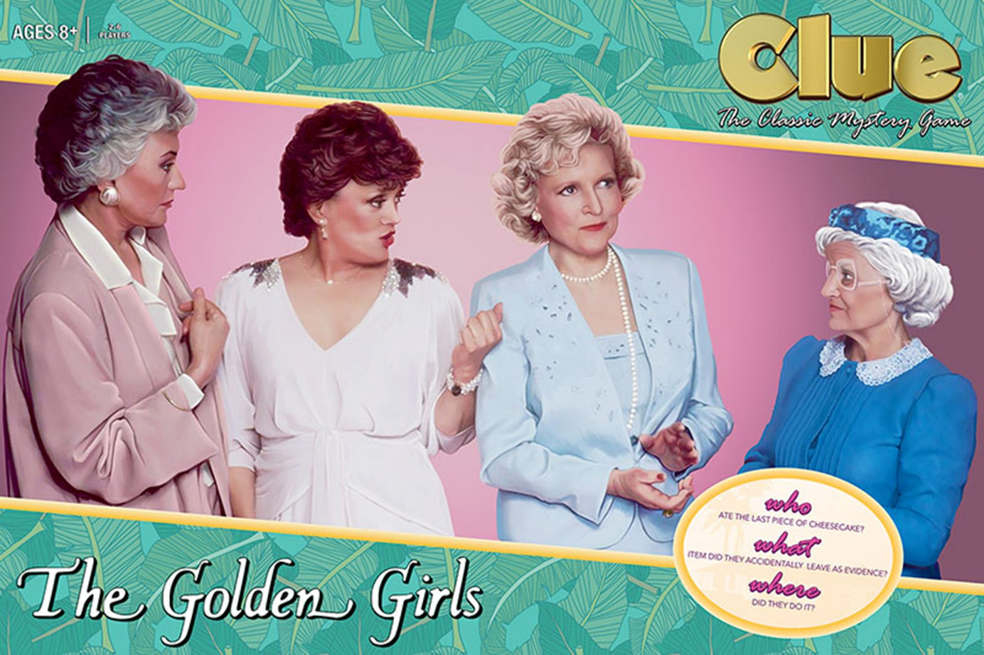 'Golden Girls' Clue: Solve the mystery of the missing cheesecake in new board game