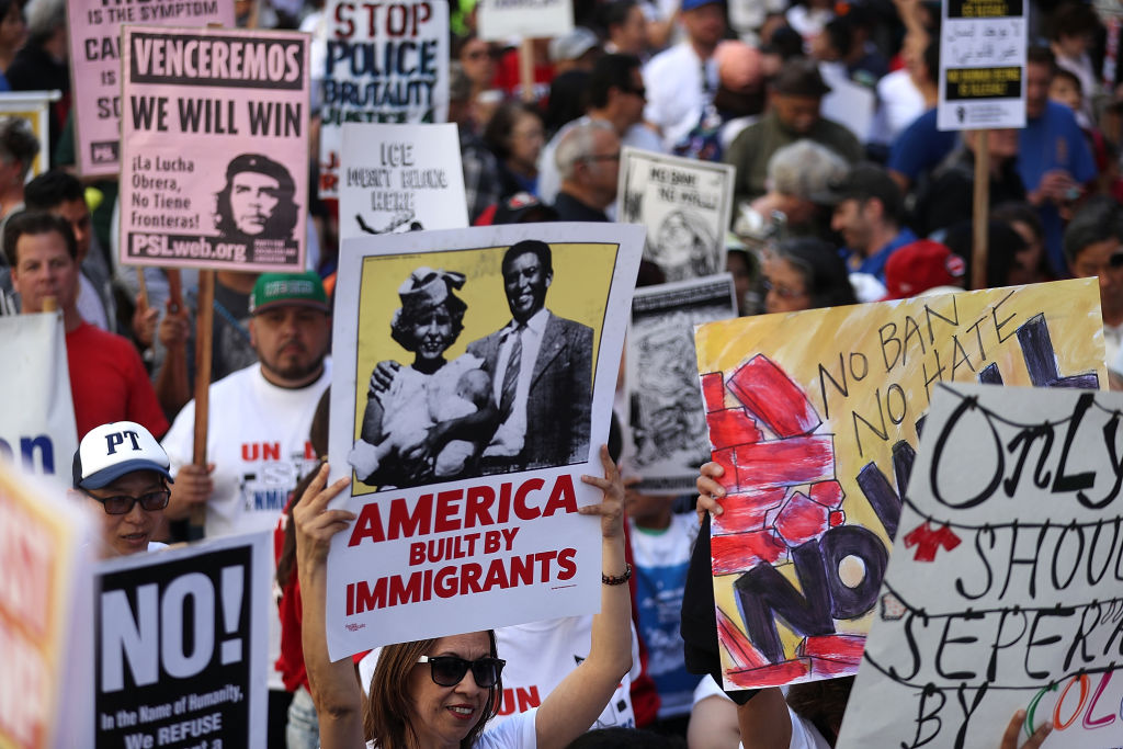 May Day march on May 1, 2017 in San Francisco, California.