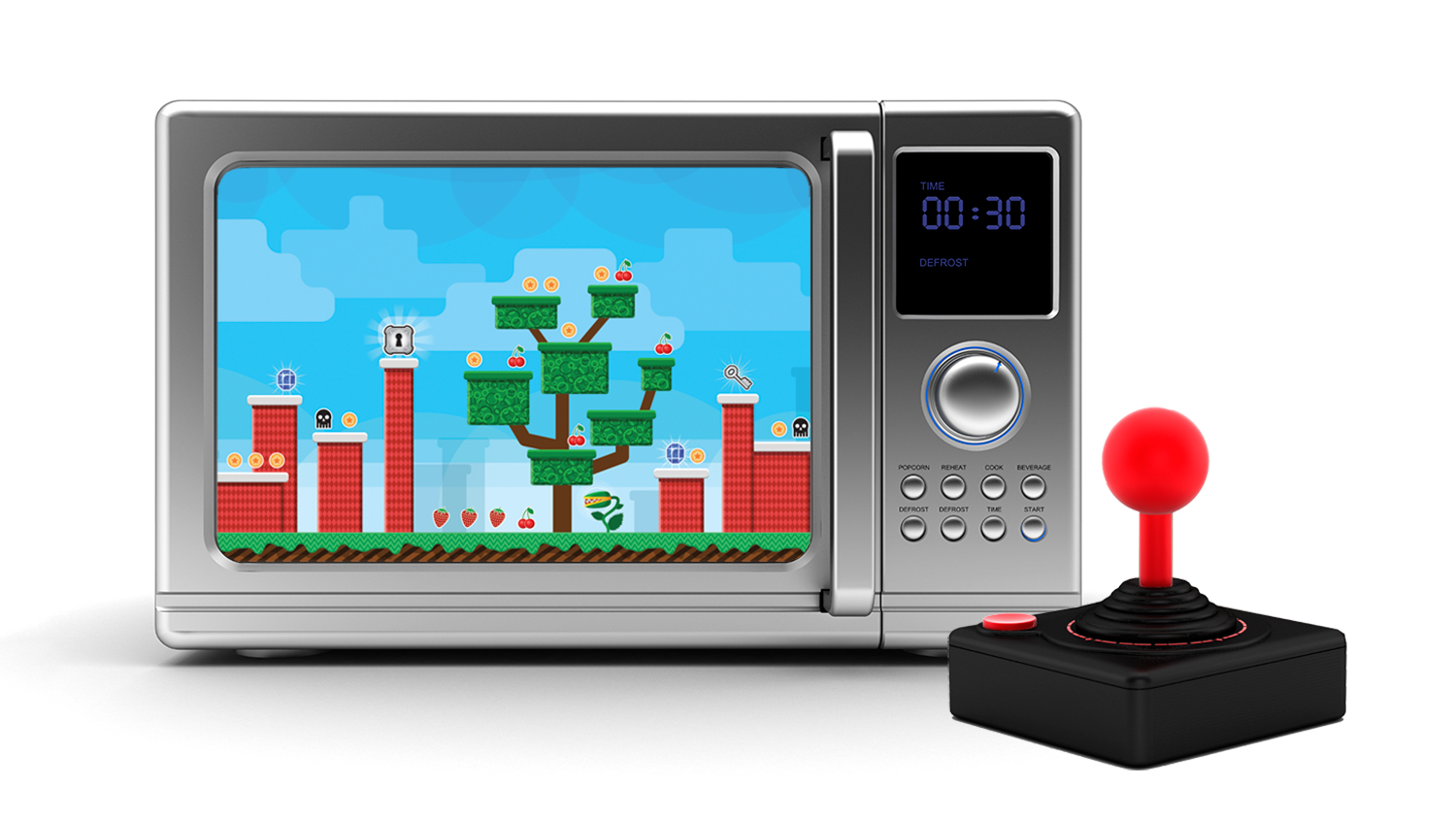 This Guy Turned a Microwave Into a Video Game Console