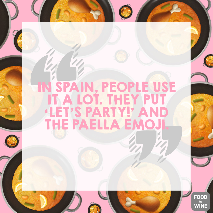 jose andres quote on apple emoji pattern