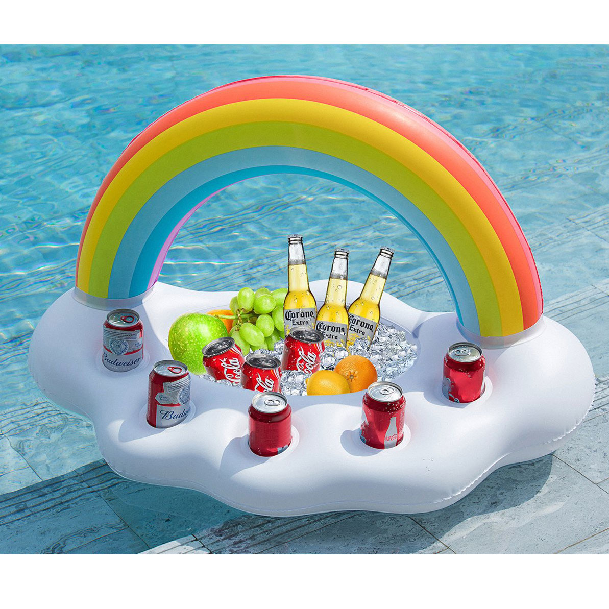 Pool Rainbow Snack Float