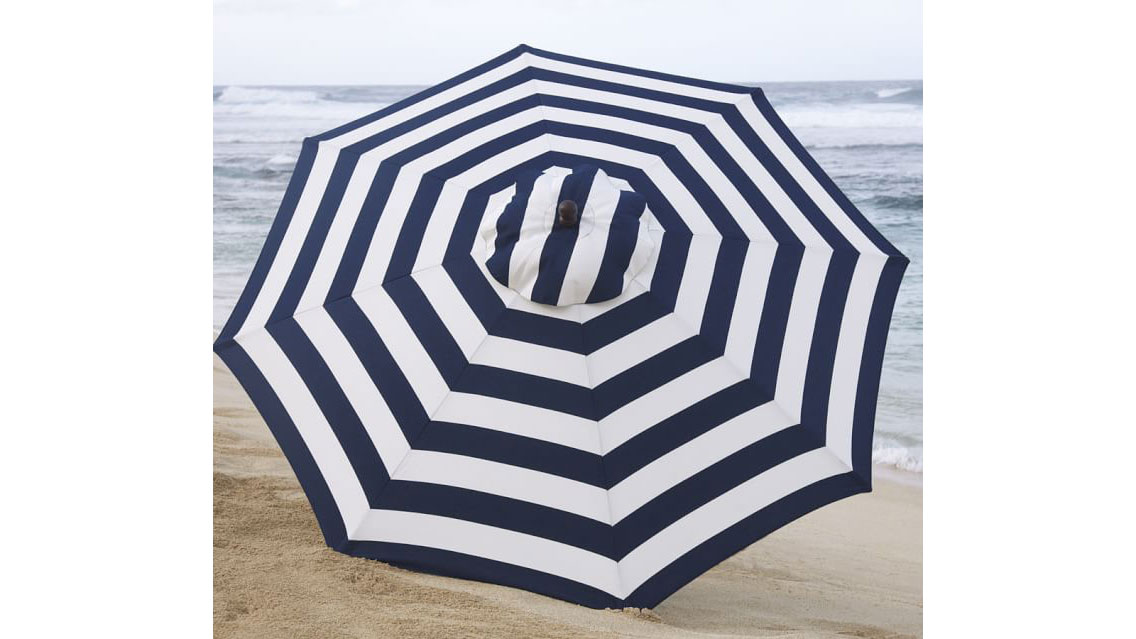 Pottery Barn Round Market Umbrella
