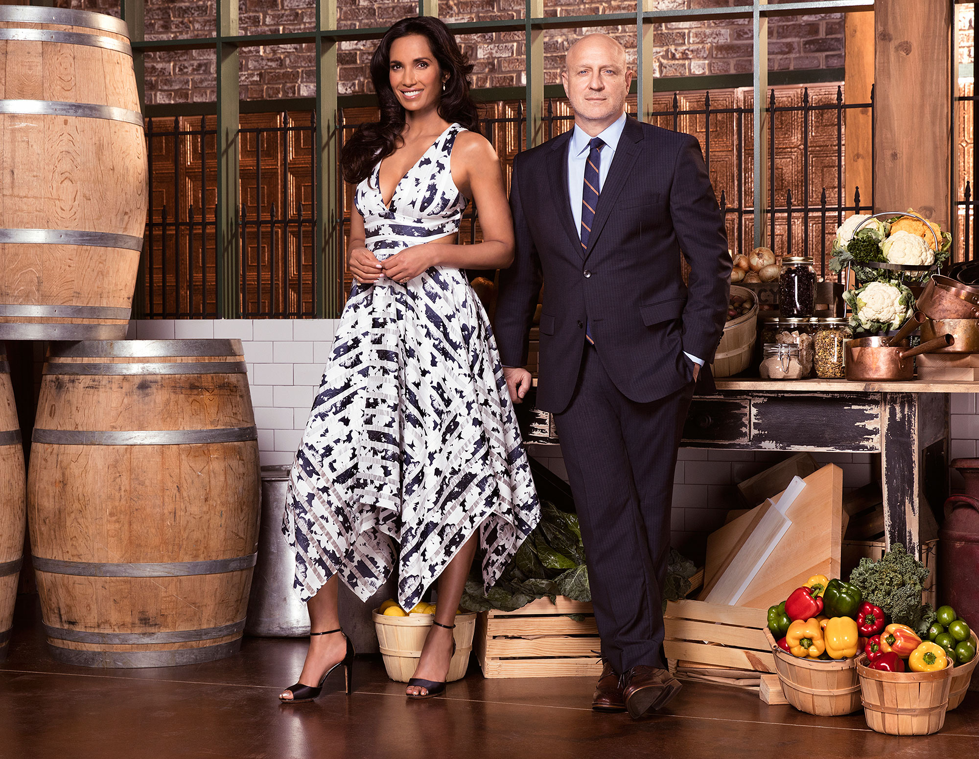 Why Tom Colicchio 'Tends to Lose Weight' on Top Chef (Unlike Host Padma Lakshmi)