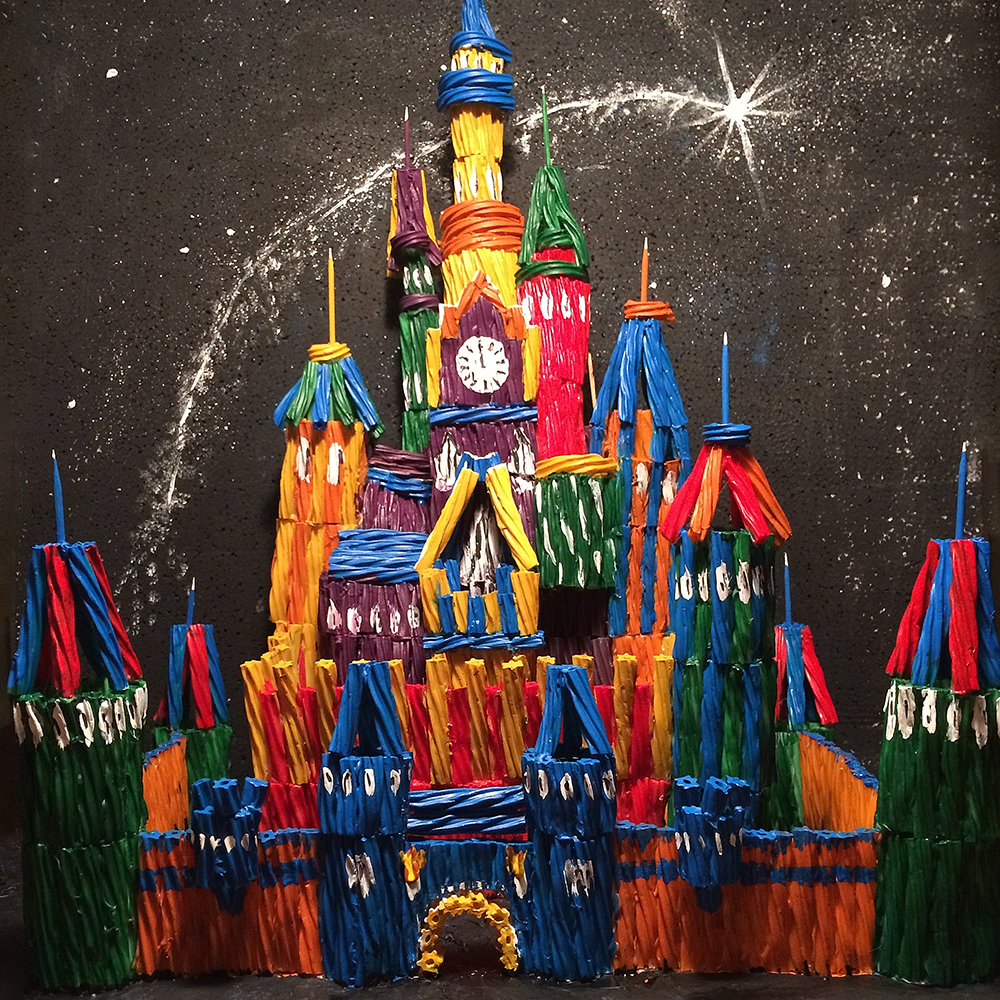 An Artist Built a Disney Castle Entirely Out of Twizzlers