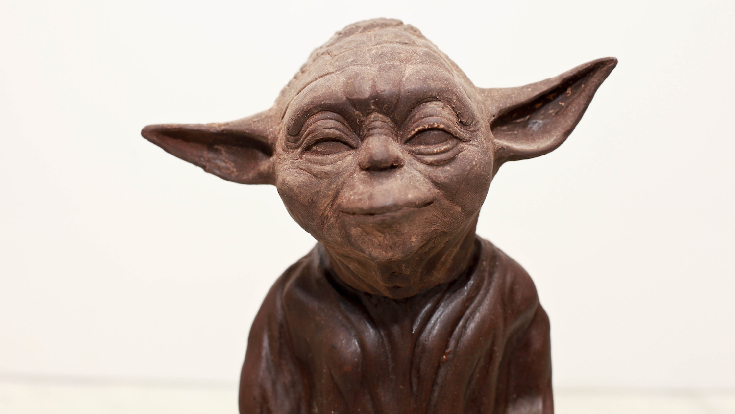 Yoda chocolate sculpture