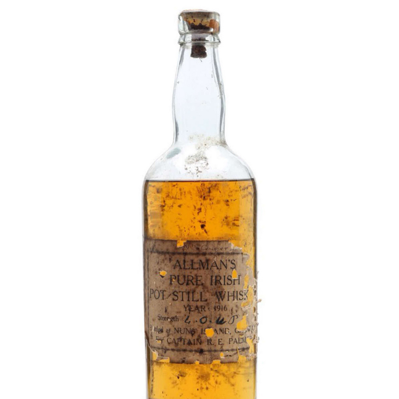 Bottle of Irish Whiskey from 1916 Could Sell for Over $17,000 at Auction