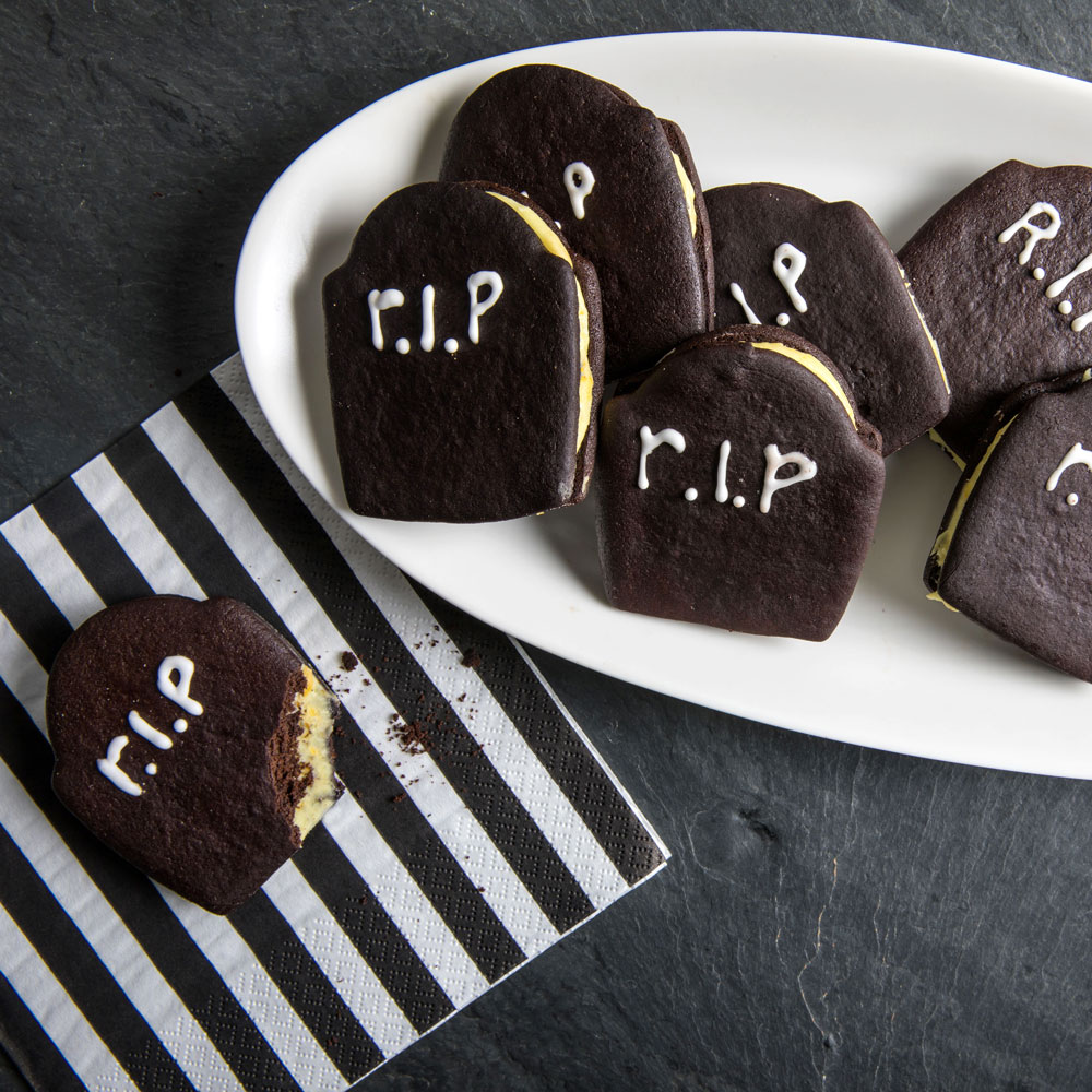 Tombstone Sugar Cookie Sandwiches