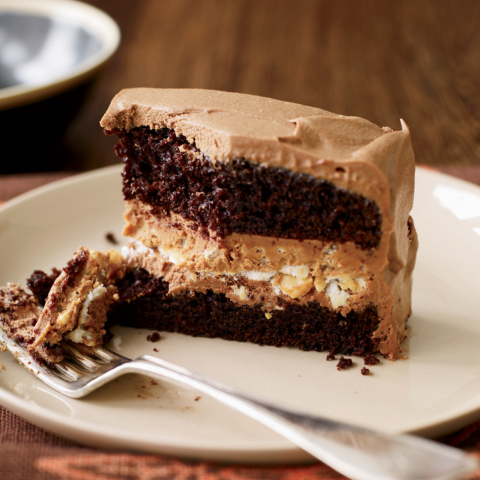 Crunchy Milk Chocolate-Peanut Butter Layer Cake Recipe