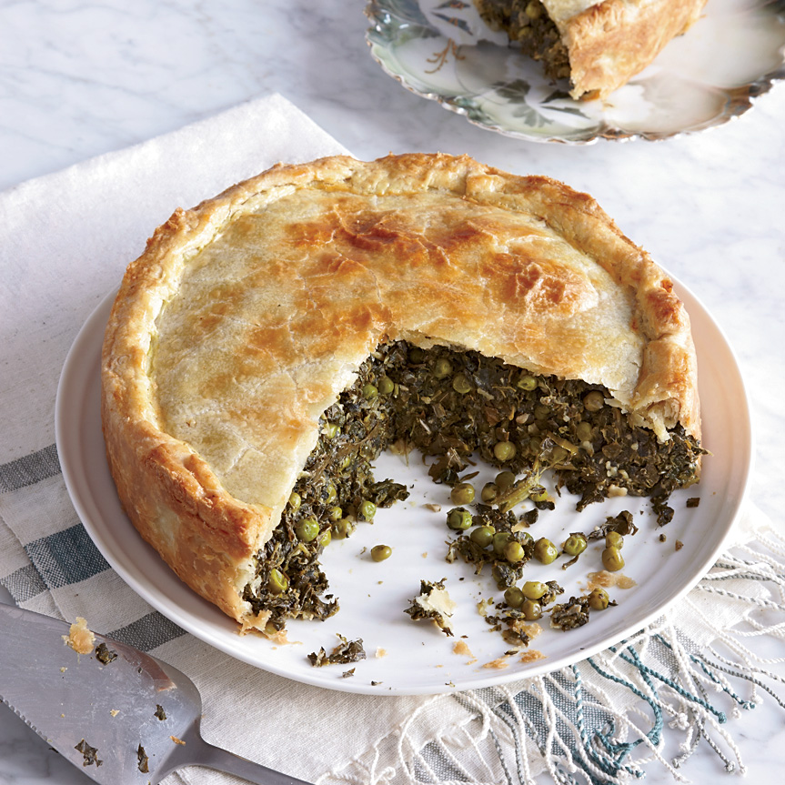 Spinach and Grape Leaf Pie