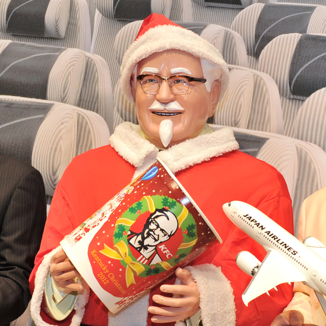 Colonel Sanders decked out for Christmas in Japan