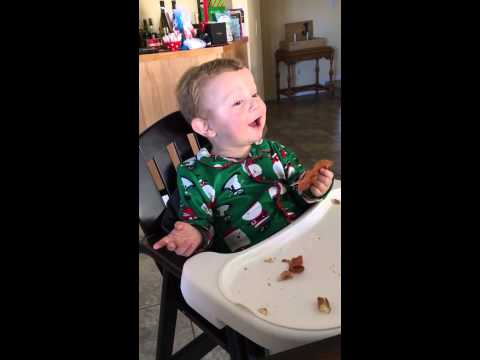Watch This Kid Get the Best Christmas Gift Ever: Trying Bacon for the First Time