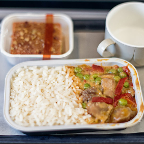 Why airplane food tastes so bad
