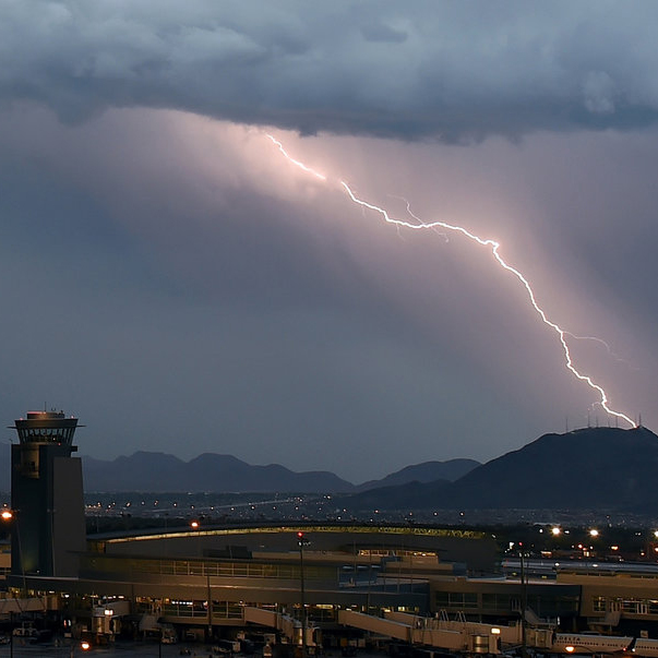 Airplanes are designed to withstand lightning strikes