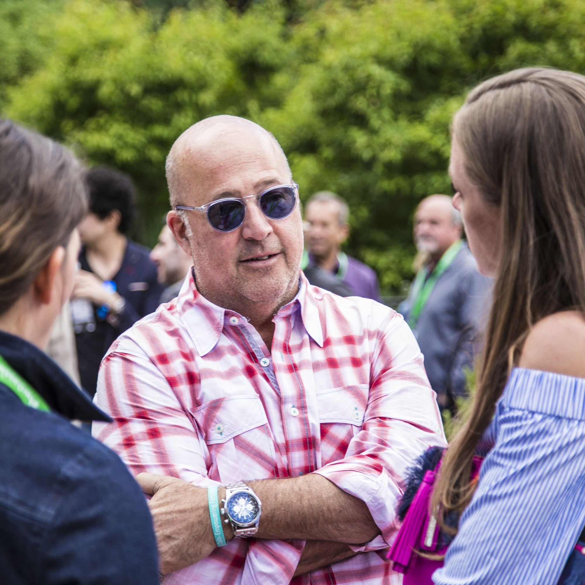 Andrew Zimmern attends the mkgalleryamp; Wine Classic in Aspen welcome reception.