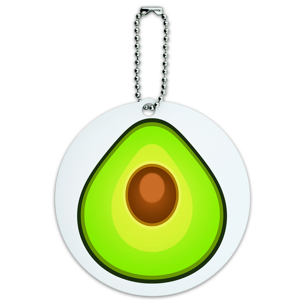 food-themed, travel, avocado, ID tag