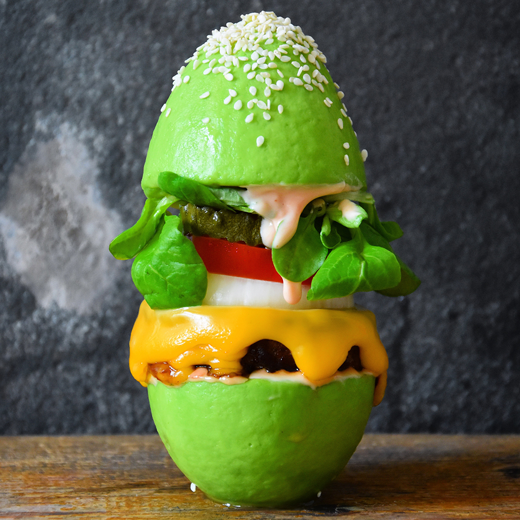 avocado, bun, Fooddeco
