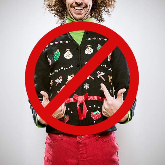banning ugly christmas sweaters
