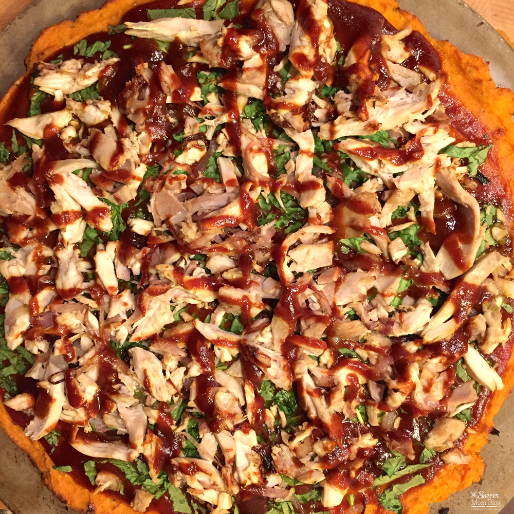 Barbecue Chicken Pizza with Sweet Potato Crust