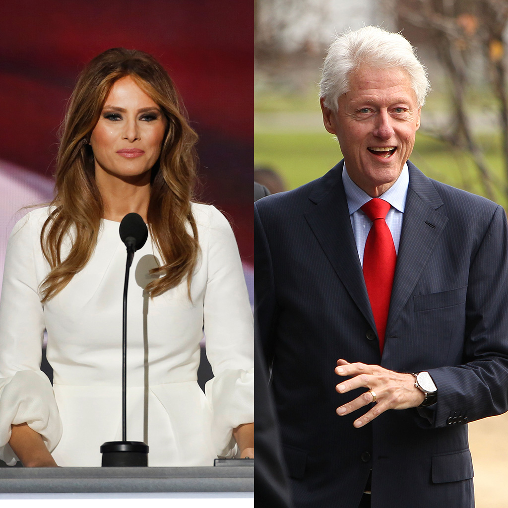 Bill Clinton, Melania Trump, cookie battle