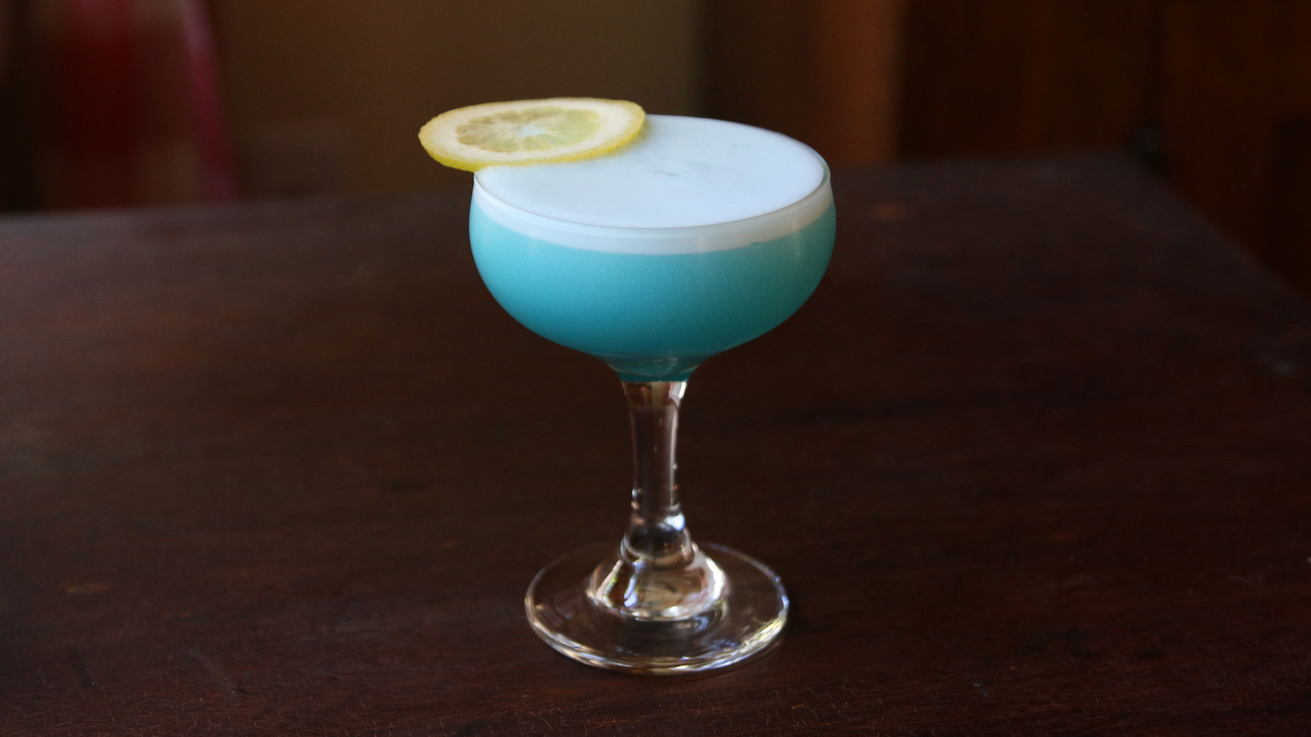 Blue Gin Sour Cocktail