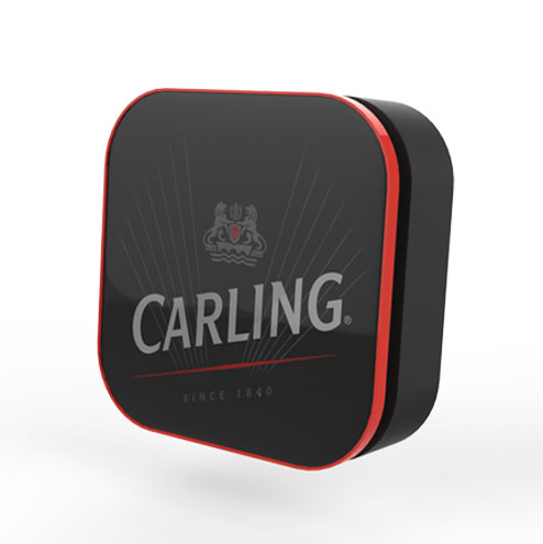 Carling, beer button, beer