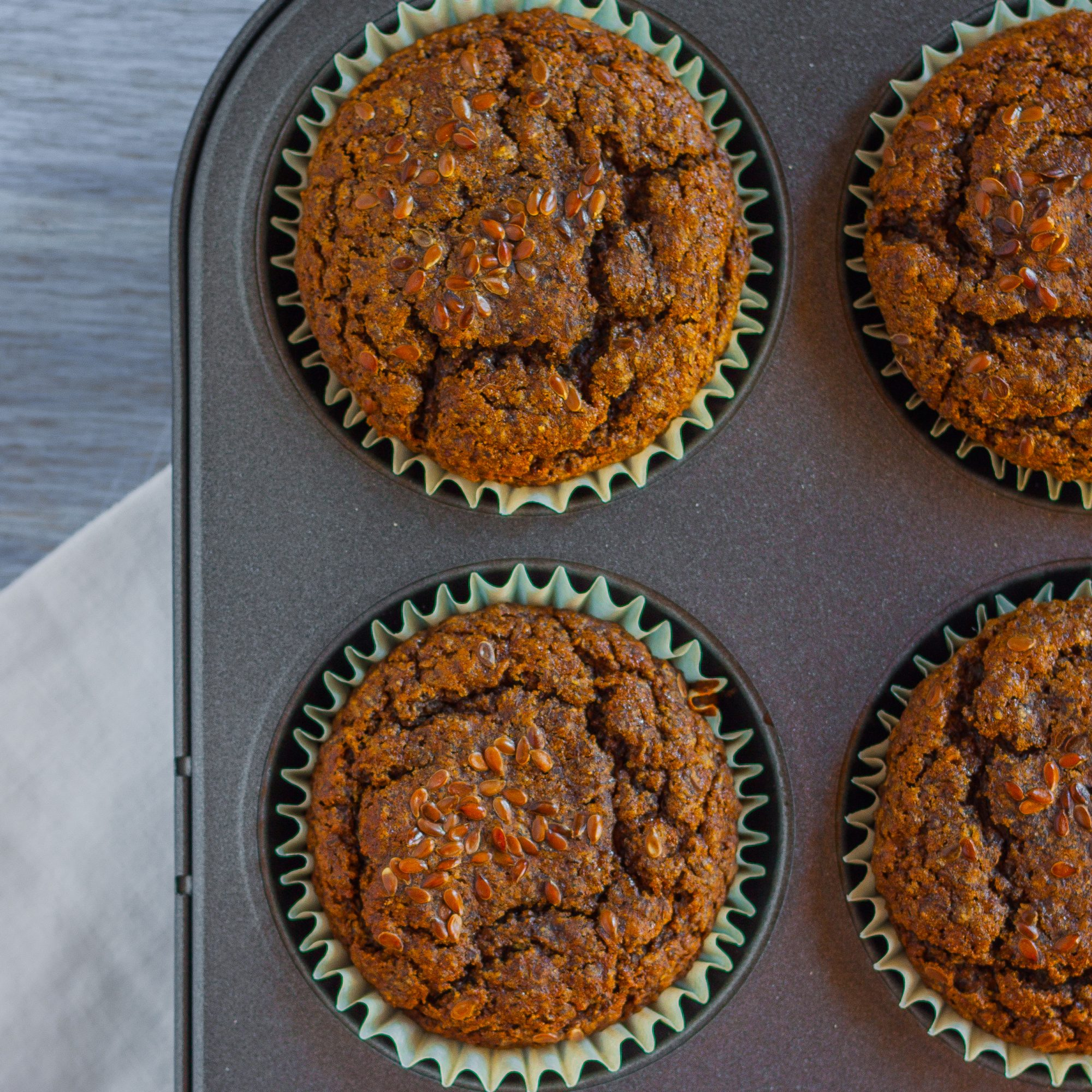 Carrot-Flax Muffins