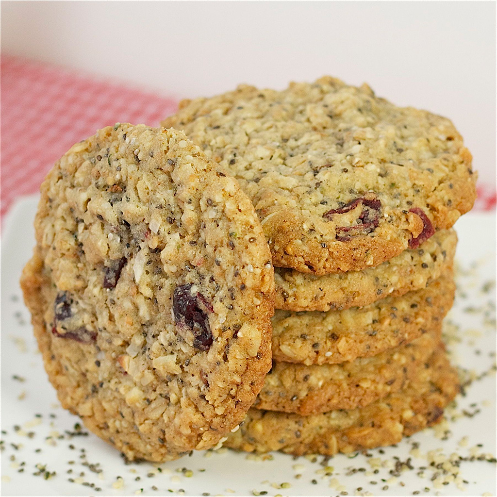 hemp, hemp recipes, cookies, oatmeal