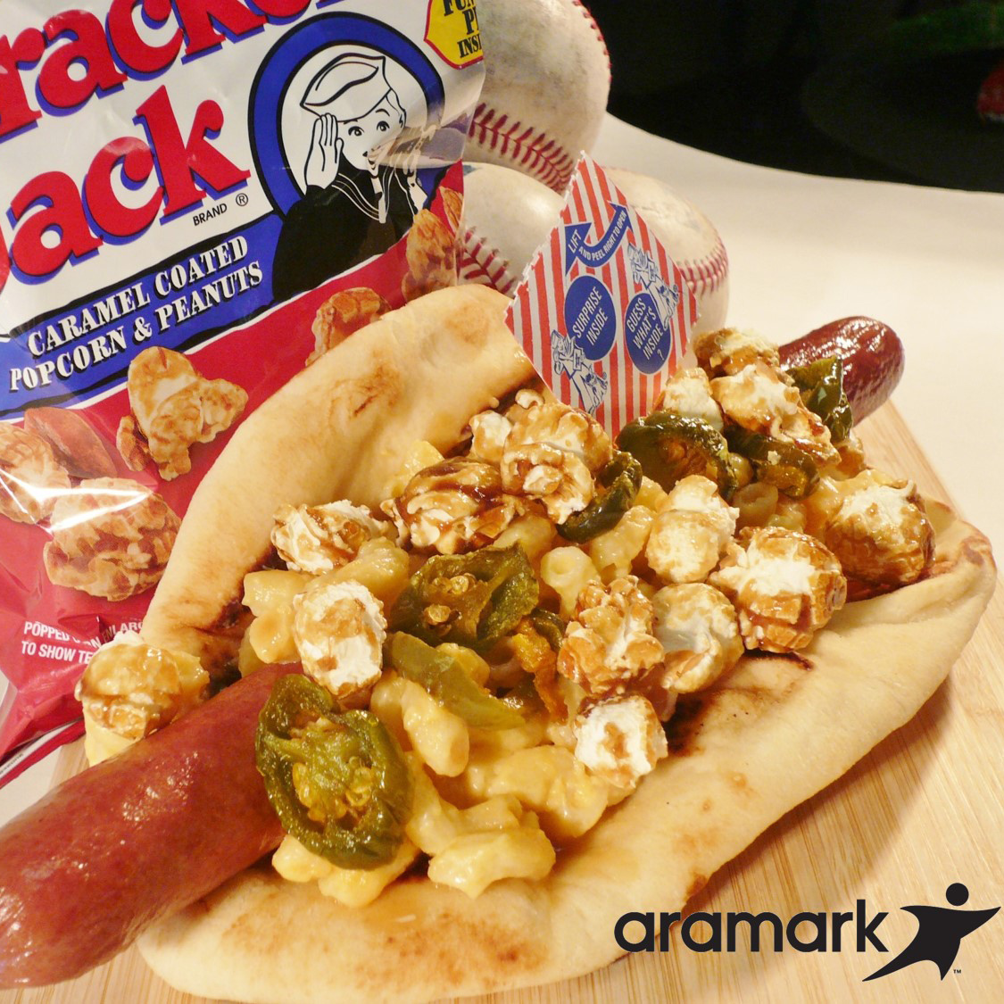 CRAZIETS BASEBALL FOOD CRACKER JACK AND MAC DOG FWX