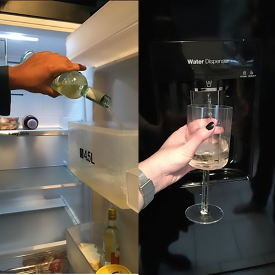 wine fridge hack