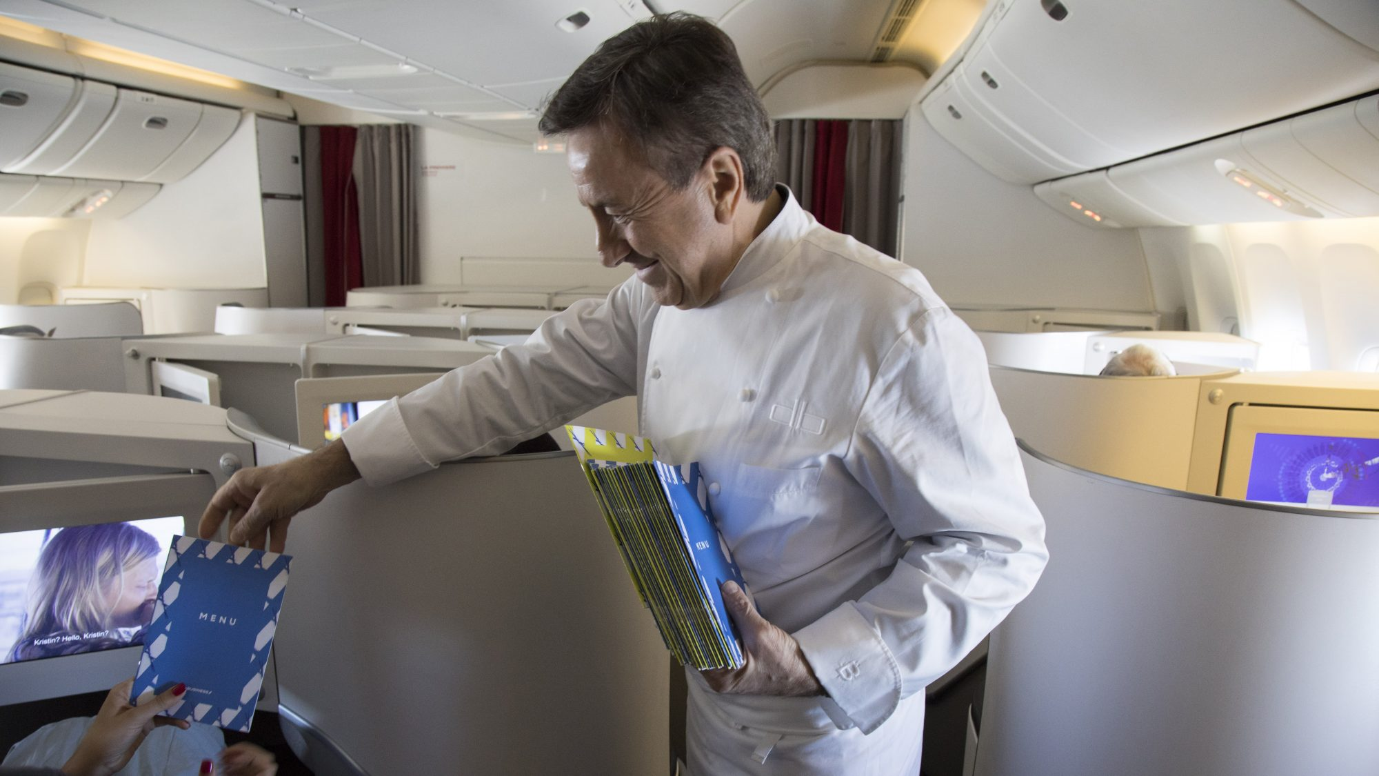 chef Daniel Boulud on an Air France flight