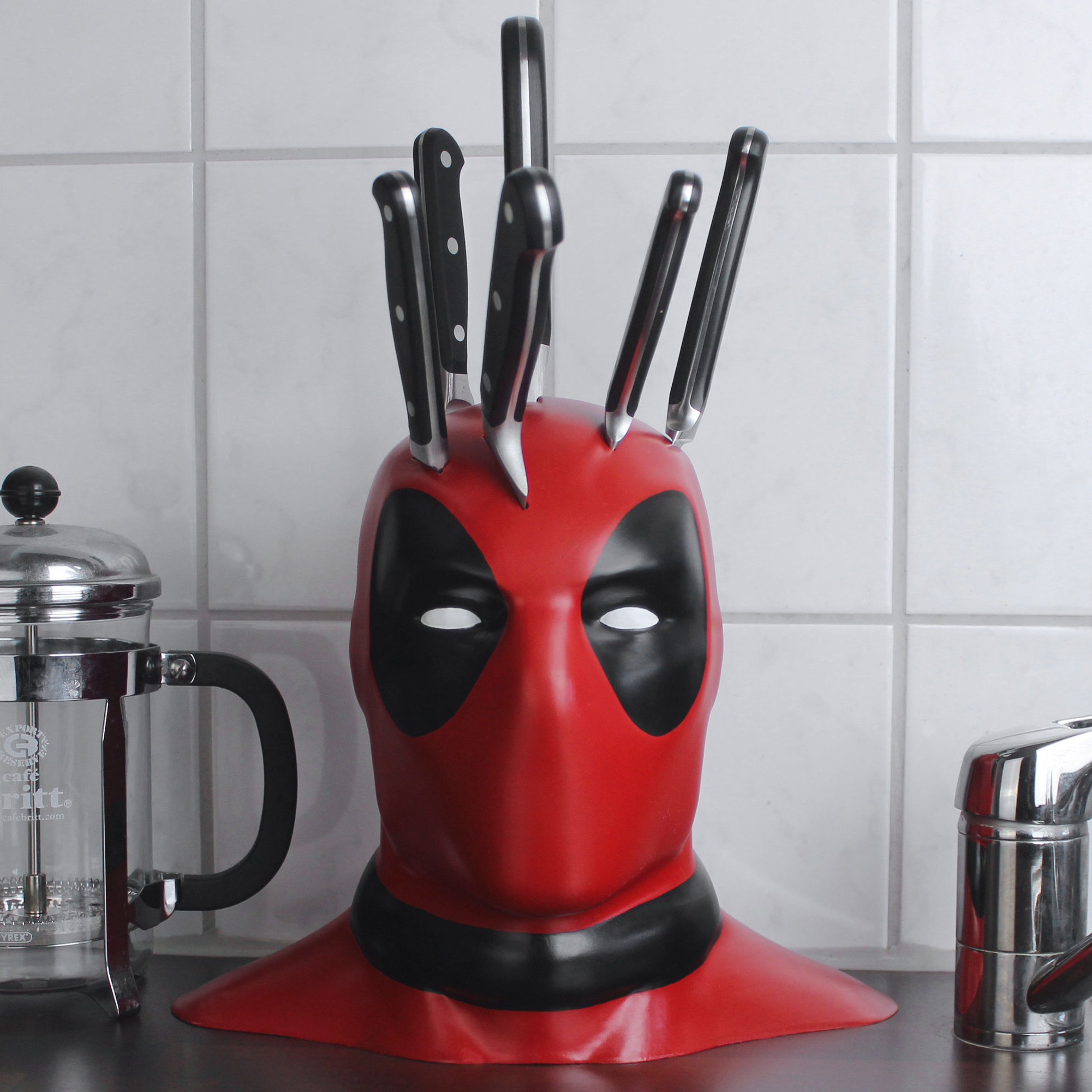 This Deadpool Knife Block Is Everything Your Kitchen Needs