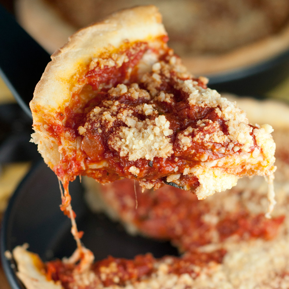 Deep-Dish Chicago Pizza